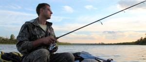 Heittokalastusta veneestä